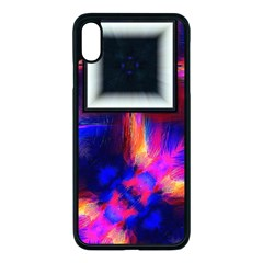Box Abstract Frame Square Apple Iphone Xs Max Seamless Case (black)