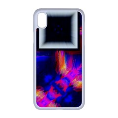 Box Abstract Frame Square Apple Iphone Xr Seamless Case (white)