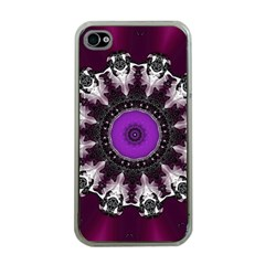 Kaleidoscope Round Circle Geometry Apple Iphone 4 Case (clear)