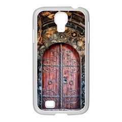 Steampunk Gears Pipes Brass Door Samsung Galaxy S4 I9500/ I9505 Case (white)