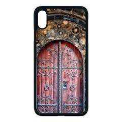 Steampunk Gears Pipes Brass Door Apple Iphone Xs Max Seamless Case (black)