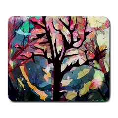 Tree Moon Night Sky Landscape Large Mousepads
