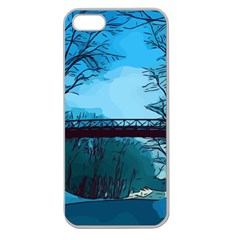Bridge Trees Walking Nature Road Apple Seamless Iphone 5 Case (clear)