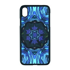 Background Blue Flower Apple Iphone Xr Seamless Case (black)