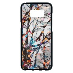 Forest Abstract Artwork Colorful Samsung Galaxy S8 Plus Black Seamless Case