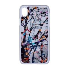 Forest Abstract Artwork Colorful Apple Iphone Xr Seamless Case (white)