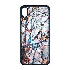 Forest Abstract Artwork Colorful Apple Iphone Xr Seamless Case (black)