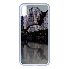 Sea Fortress Lake Reflection Sky Apple Iphone Xs Max Seamless Case (white)