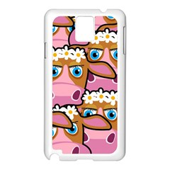 Pink Cows Samsung Galaxy Note 3 N9005 Case (white)