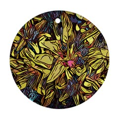 Lilies Abstract Flowers Nature Ornament (round)