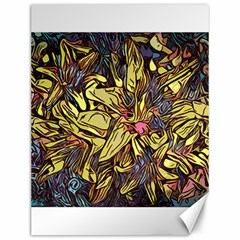 Lilies Abstract Flowers Nature Canvas 12  X 16