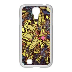Lilies Abstract Flowers Nature Samsung Galaxy S4 I9500/ I9505 Case (white)