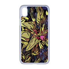 Lilies Abstract Flowers Nature Apple Iphone Xr Seamless Case (white)