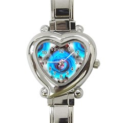 Abstract Kaleidoscope Pattern Heart Italian Charm Watch by Pakrebo