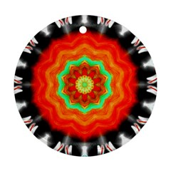 Abstract Kaleidoscope Colored Round Ornament (two Sides)