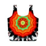 Abstract Kaleidoscope Colored Full Print Recycle Bag (M) Front