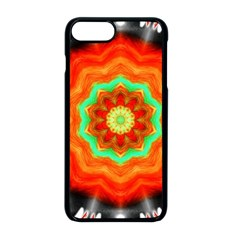 Abstract Kaleidoscope Colored Apple Iphone 8 Plus Seamless Case (black)