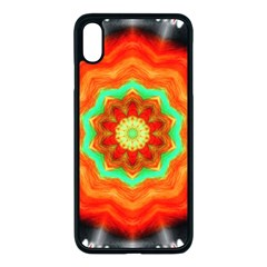 Abstract Kaleidoscope Colored Apple Iphone Xs Max Seamless Case (black)