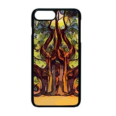 Tree Monster Maestro Landscape Apple Iphone 7 Plus Seamless Case (black)