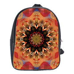 Abstract Kaleidoscope Design School Bag (xl)
