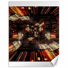 Library Tunnel Books Stacks Canvas 18  X 24