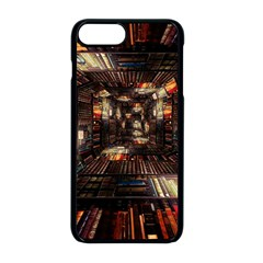 Library Tunnel Books Stacks Apple Iphone 8 Plus Seamless Case (black)