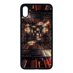 Library Tunnel Books Stacks Apple Iphone Xs Max Seamless Case (black)