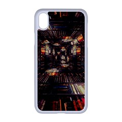 Library Tunnel Books Stacks Apple Iphone Xr Seamless Case (white)