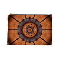 Abstract Kaleidoscope Texture Cosmetic Bag (large)