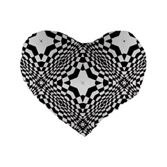 Tile Repeating Pattern Texture Standard 16  Premium Heart Shape Cushions