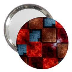 Abstract Depth Structure 3d 3  Handbag Mirrors by Pakrebo