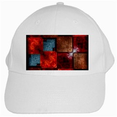Abstract Depth Structure 3d White Cap by Pakrebo