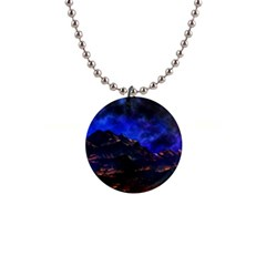 Landscape Sci Fi Alien World 1  Button Necklace by Pakrebo