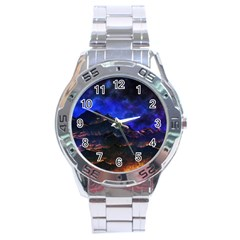 Landscape Sci Fi Alien World Stainless Steel Analogue Watch