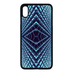 Sci Fi Texture Futuristic Design Apple Iphone Xs Max Seamless Case (black)