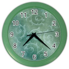 Background Green Structure Texture Color Wall Clock