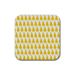 Pears Fruit Fruits Autumn Harvest Rubber Square Coaster (4 Pack)