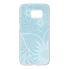 Flowers Background Leaf Leaves Sunflower Samsung Galaxy S7 Edge White Seamless Case by Jojostore