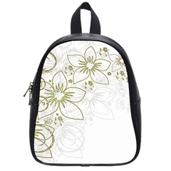Flowers Background Leaf Leaves School Bag (small)