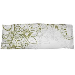 Flowers Background Leaf Leaves Body Pillow Case Dakimakura (two Sides) by Mariart