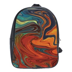 Abstract Art Pattern School Bag (large)