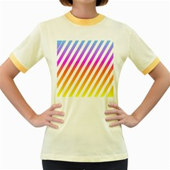 Abstract Lines Mockup Oblique Women s Fitted Ringer T Shirt
