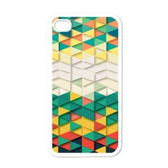 Background Triangle Apple Iphone 4 Case (white)