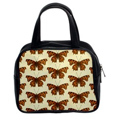Butterflies Insects Pattern Classic Handbag (two Sides)