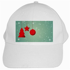 Christmas Red Star White Cap by Desi8477