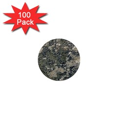 Grunge Camo Print Design 1  Mini Buttons (100 Pack)  by dflcprintsclothing