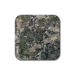 Grunge Camo Print Design Rubber Coaster (square)  by dflcprintsclothing