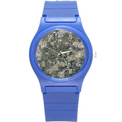 Grunge Camo Print Design Round Plastic Sport Watch (s) by dflcprintsclothing