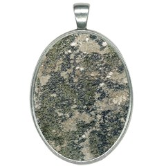 Grunge Camo Print Design Oval Necklace by dflcprintsclothing