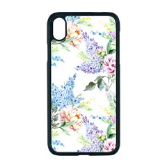 Spring Flowers Pattern Apple Iphone Xr Seamless Case (black)